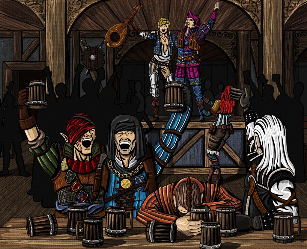Весёлая пьянка - Witcher 3: Wild Hunt, the