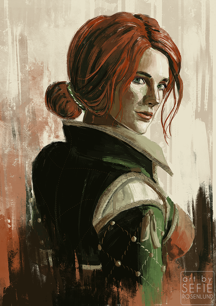 triss_merigold_by_sefikichi-dcon3ey.png - Witcher 3: Wild Hunt, the Арт, Трисс