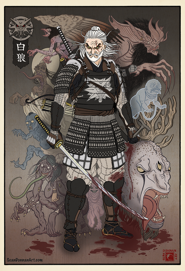 the_white_wolf_by_seandonnanart-dcfp8px.png - The Witcher 3: Wild Hunt