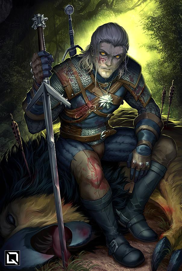 white_wolf_by_quirkilicious-dc36cvn.jpg - The Witcher 3: Wild Hunt