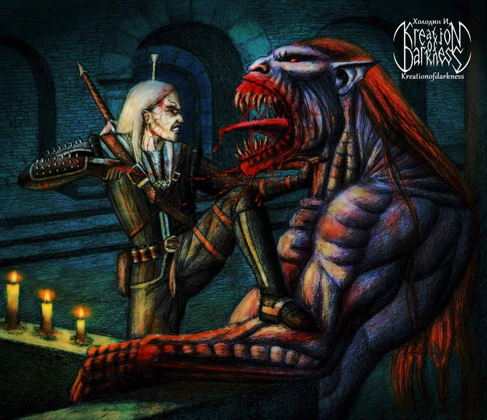 Ведьмак и стрыга - Witcher 3: Wild Hunt, the арт