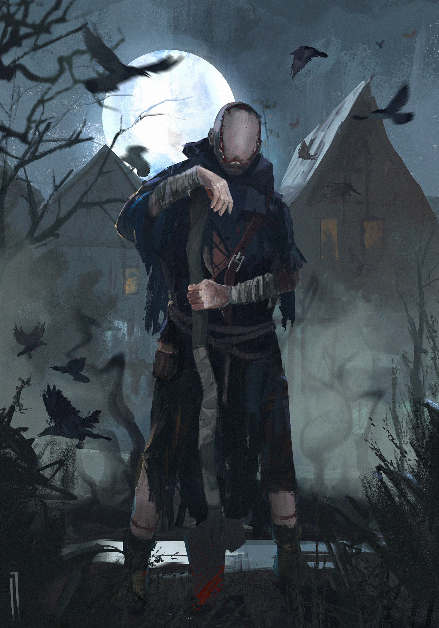 The Caretaker by Ismail Inceoglu - Witcher 3: Wild Hunt, the