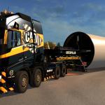 Euro Truck Simulator 2 CAT VOLVO FH16 8x4 Wind Turbine Tower