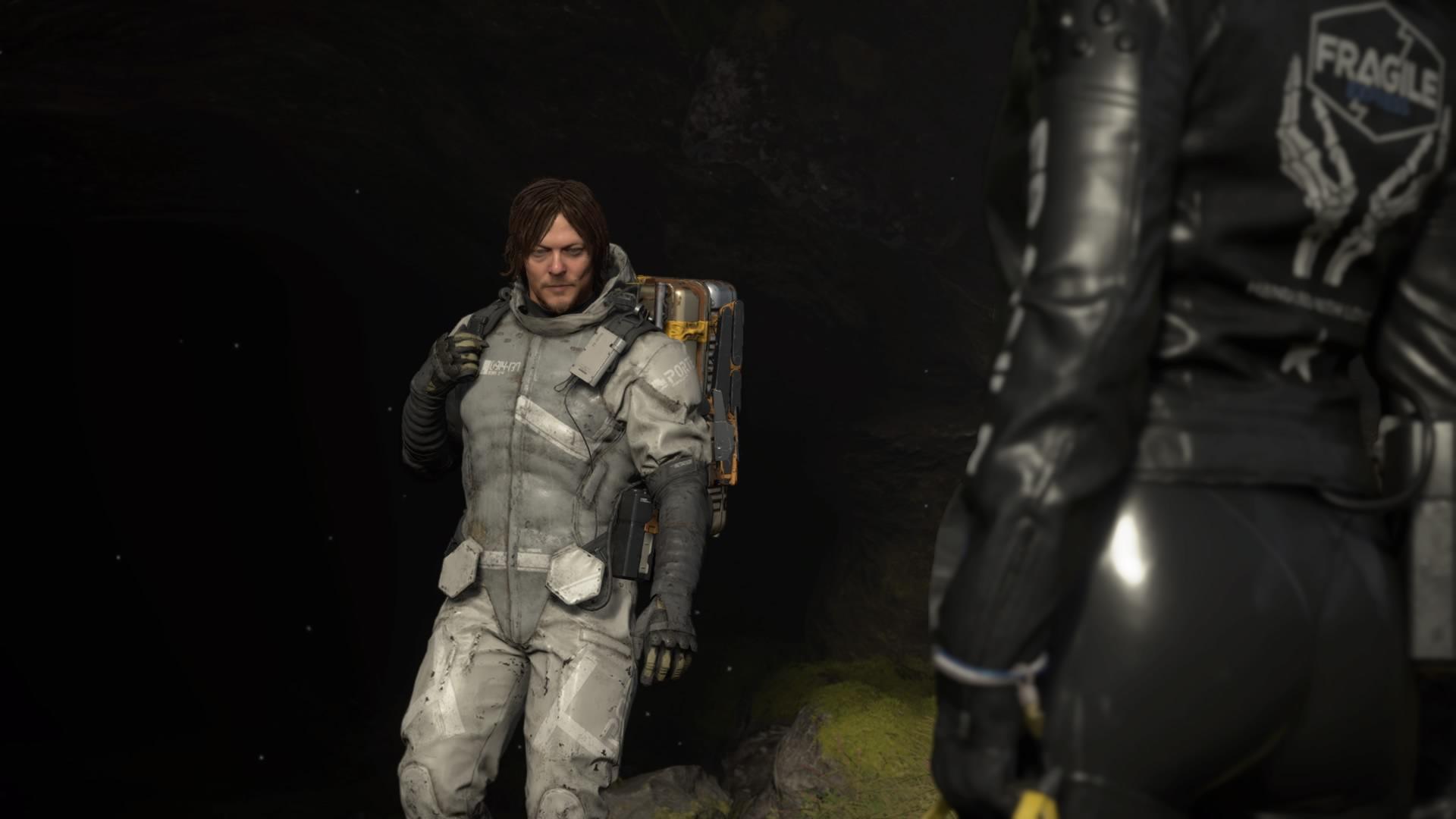 Сэм в пещере. - Death Stranding