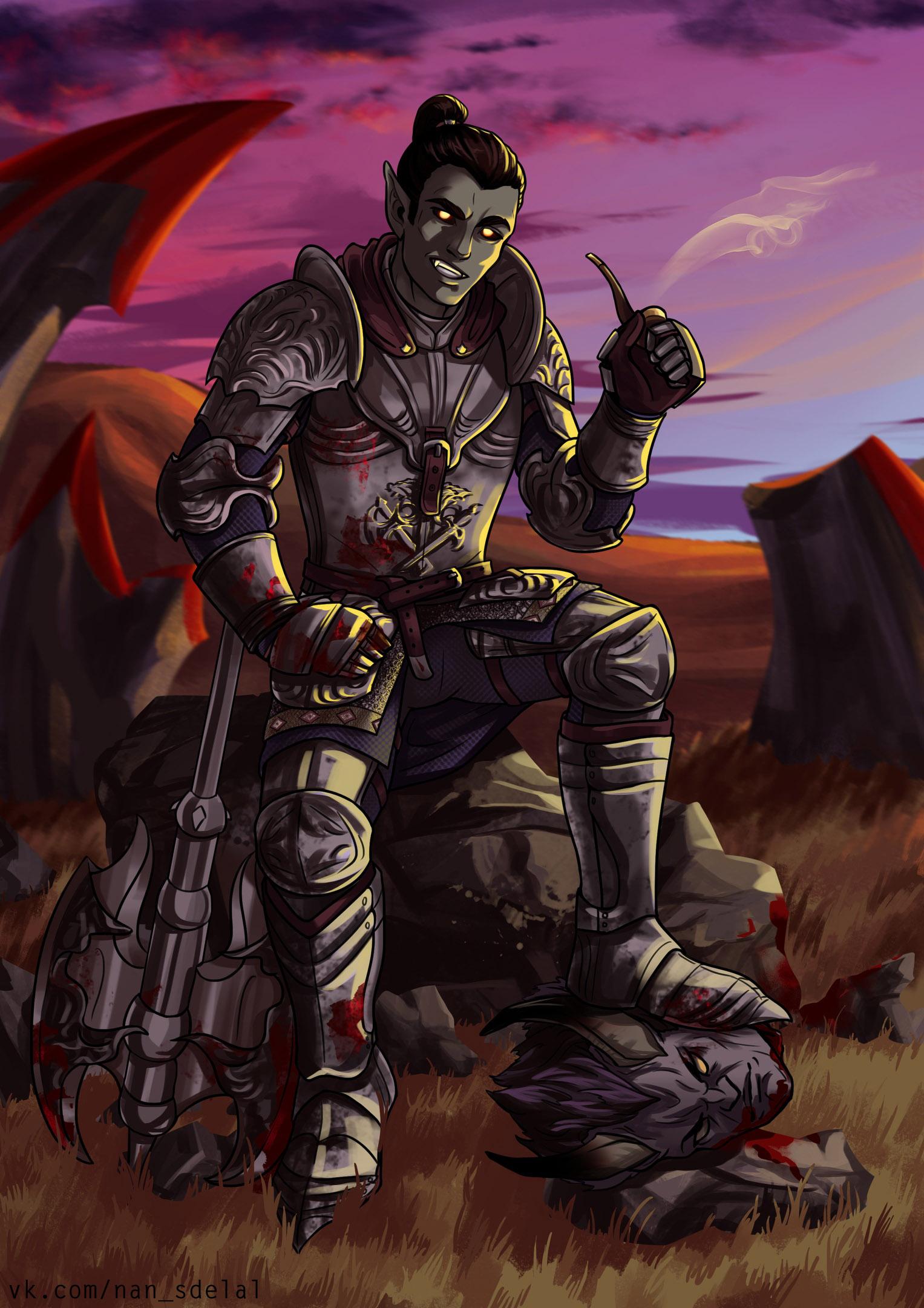 Перекур Сиродильского чемпиона. Автор: vk.com/nan_sdelal - Elder Scrolls 5: Skyrim, the