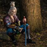 Witcher 3: Wild Hunt косплей анимешного Геральта