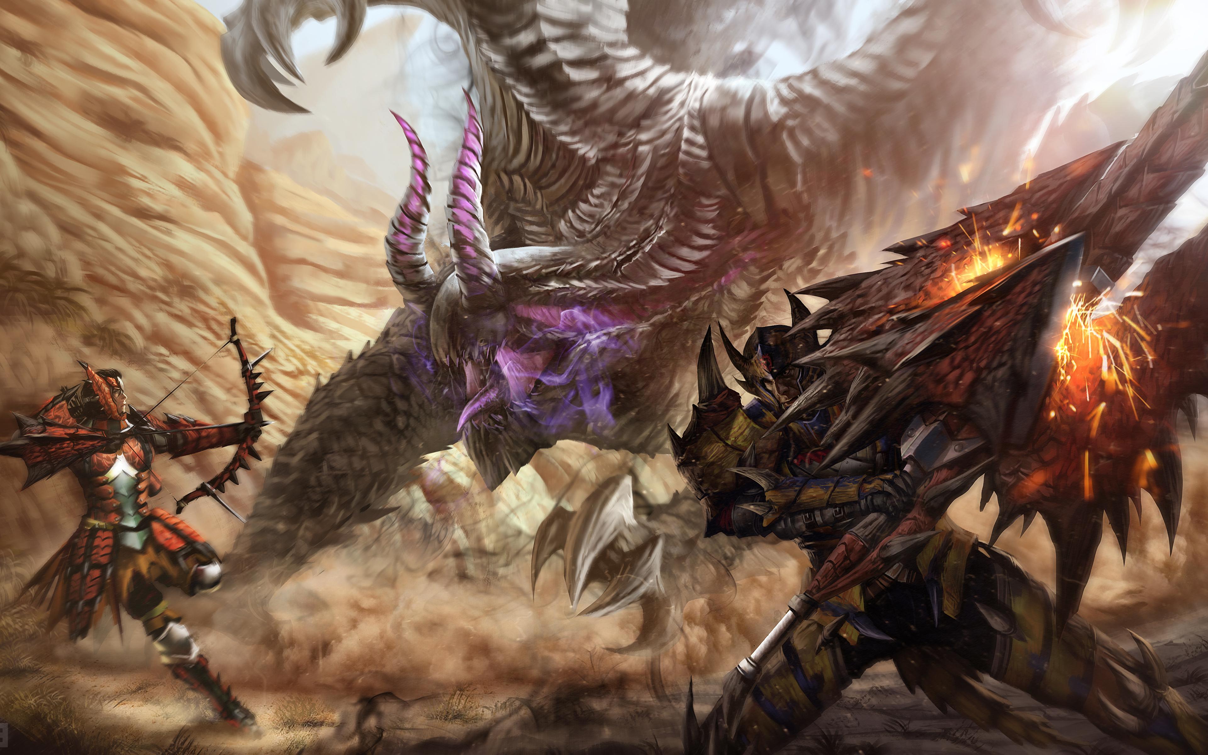 Battles_Dragons_Archers_445021_3840x2400.jpg - Monster Hunter: World