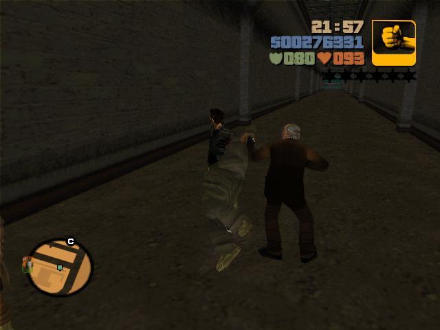 Сальваторе мочит бомжа - Grand Theft Auto 3