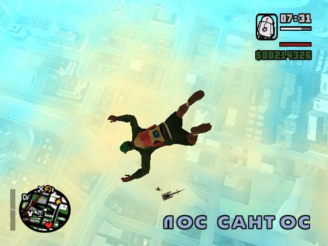 Разные фото из GTA San Andreas. - Grand Theft Auto: San Andreas Девушка полетела