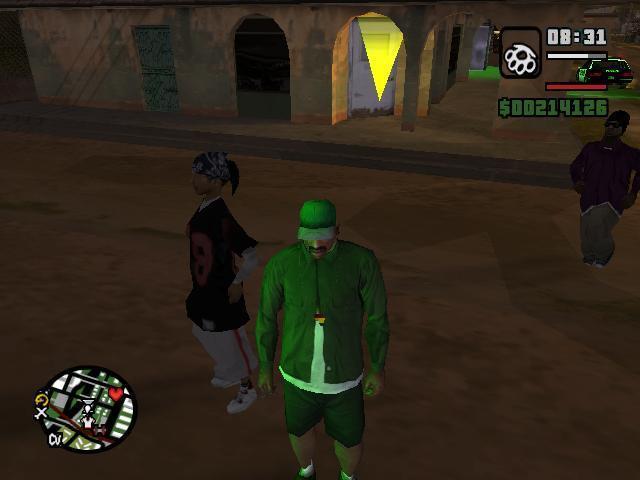 Разные фото из GTA San Andreas. - Grand Theft Auto: San Andreas Девушка после полёта с 500-метровой высоты целая и