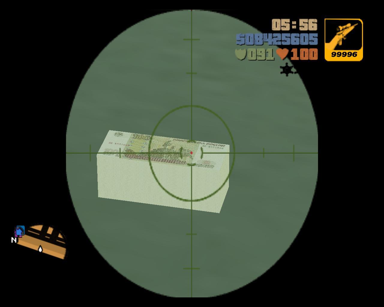 100 Рублей - Grand Theft Auto 3 Мухосранск