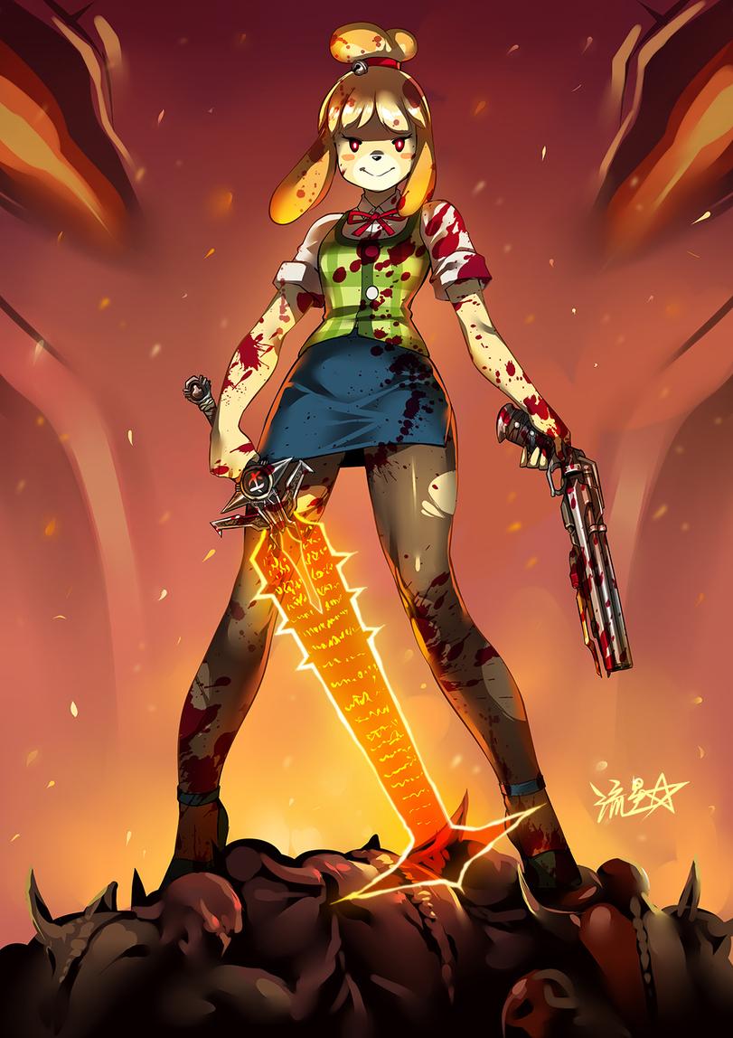 Isabelle-Animal-Crossing-Игры-Doom-Eternal-5801866.jpeg - Doom Eternal