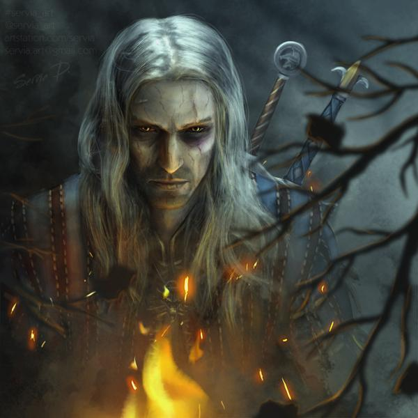 the_white_wolf_by_servia_art_ddy6hrh-fullview.jpg - The Witcher 3: Wild Hunt