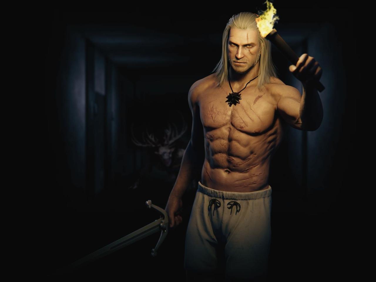 Геральт хардкорит против беса - The Witcher 3: Wild Hunt