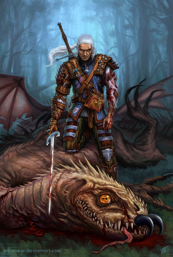 Геральт в достаточно крутом доспехе - The Witcher 3: Wild Hunt