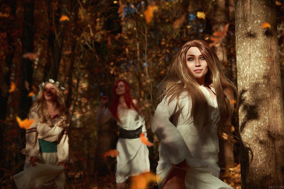 Косплей Хозяек Леса (человеческая версия) - The Witcher 3: Wild Hunt
