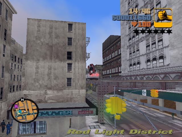 Прыжок на поезд 4 - Grand Theft Auto 3