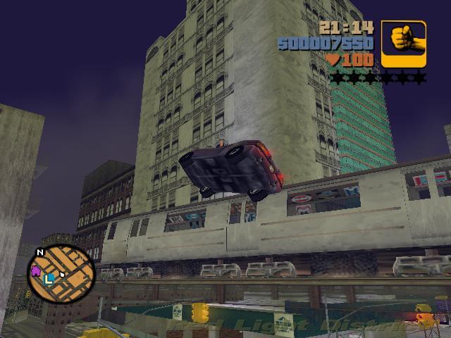 Прыжок через поезд - Grand Theft Auto 3
