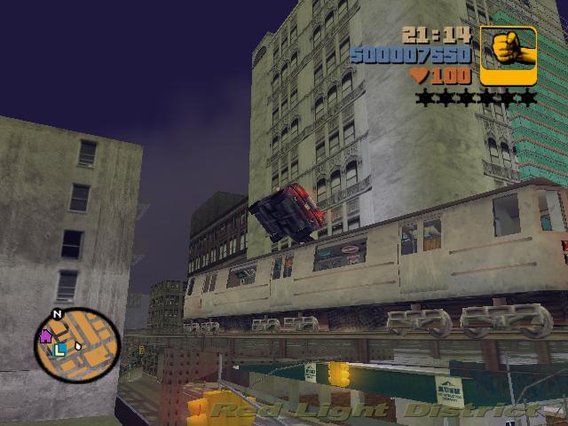 Прыжок через поезд 2 - Grand Theft Auto 3