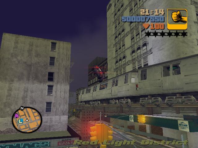 Прыжок через поезд 3 - Grand Theft Auto 3