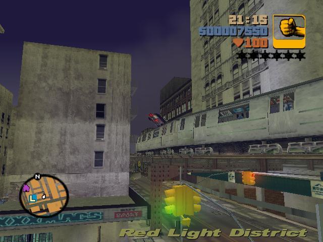 Прыжок через поезд 4 - Grand Theft Auto 3