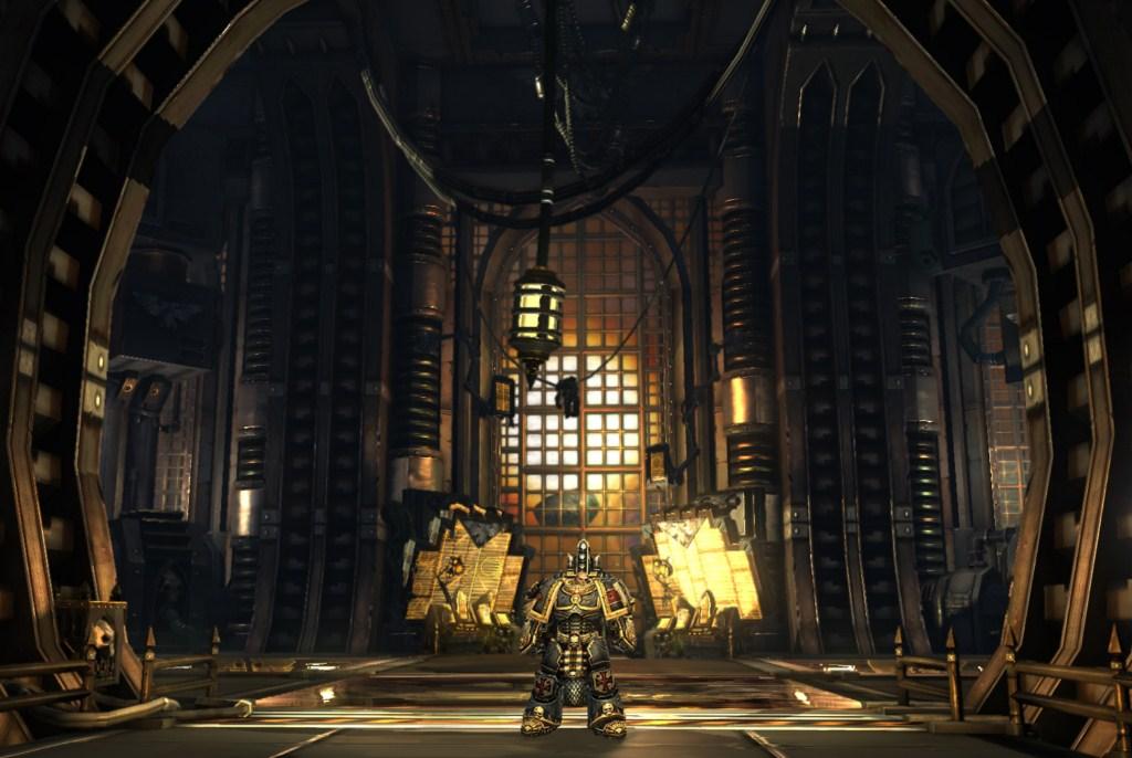 Черный храмовник и пейзаж - Warhammer 40.000: Dark Millennium Online