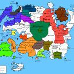 The Elder Scrolls Online Карта зон TESO