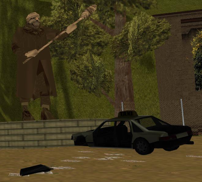 Постамент комраду Даркелу с веслом - Grand Theft Auto 3