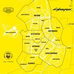 Cyberpunk 2077 Административная карта города и прилегающих территорий (ENG)