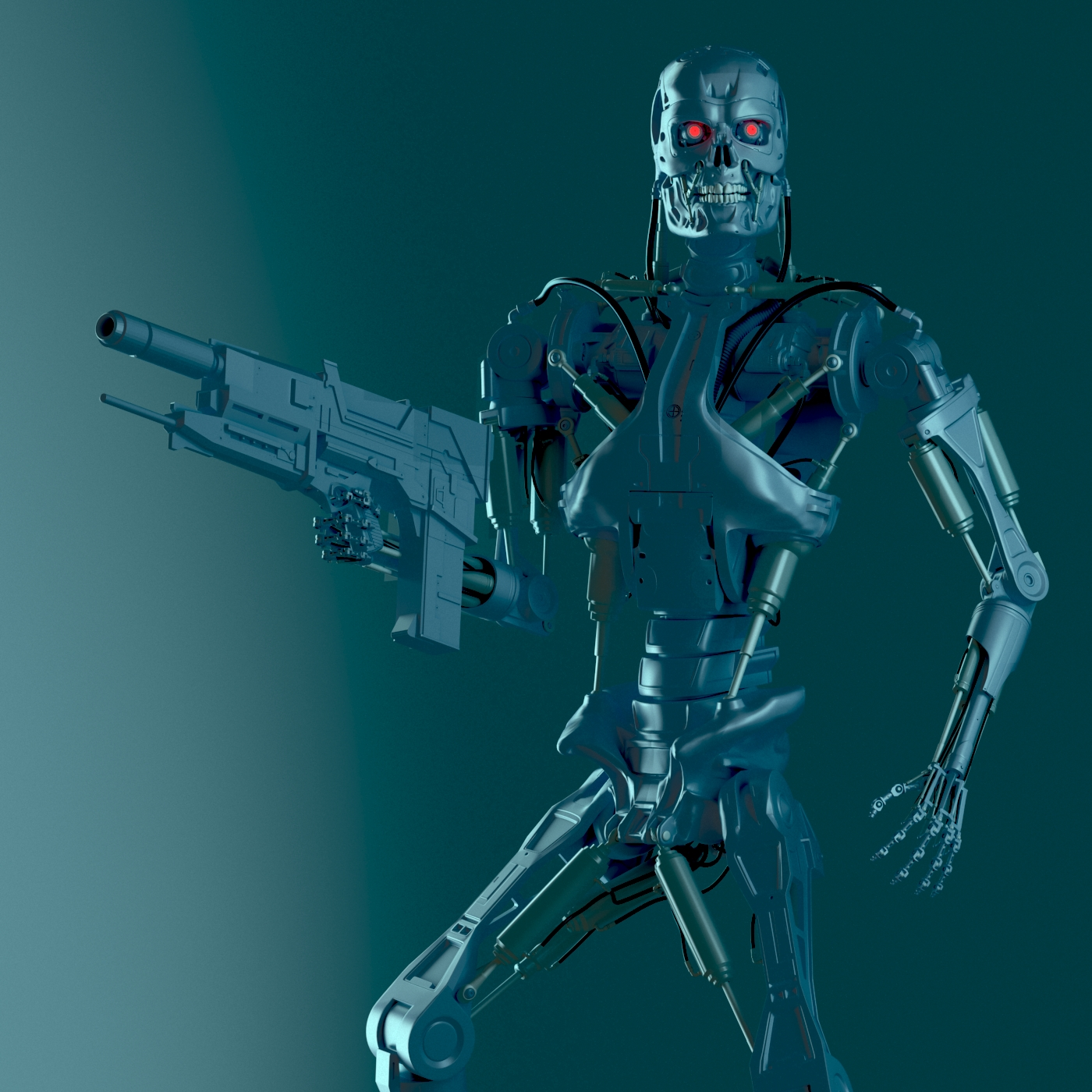 Creation terminator t-800 real 3D model - Terminator: Resistance