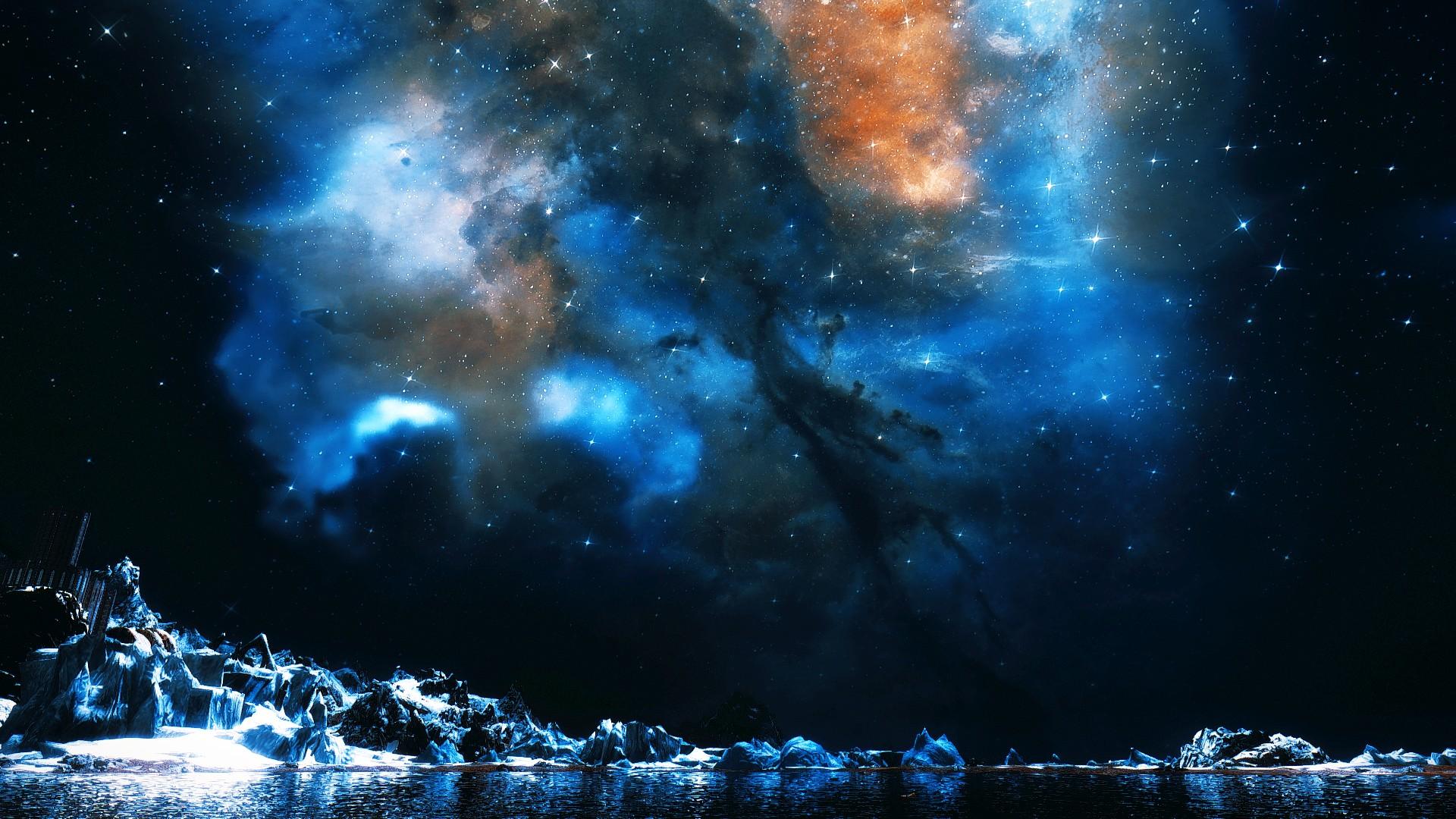 Ночной пейзаж 0.jpg - The Elder Scrolls 5: Skyrim
