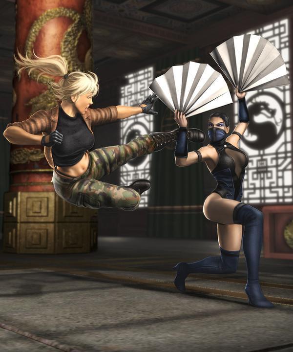 Соня Блэйд и Китана - Mortal Kombat (2011) МК