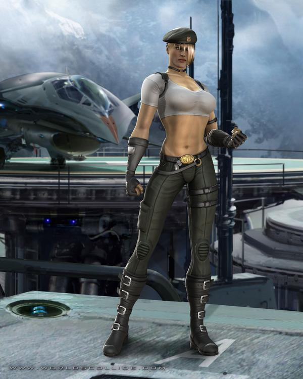 Соня Блэйд(Я бы вдул:) - Mortal Kombat (2011) МК