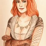 The Witcher Трисс. Автор: https://vk.com/levinsonart