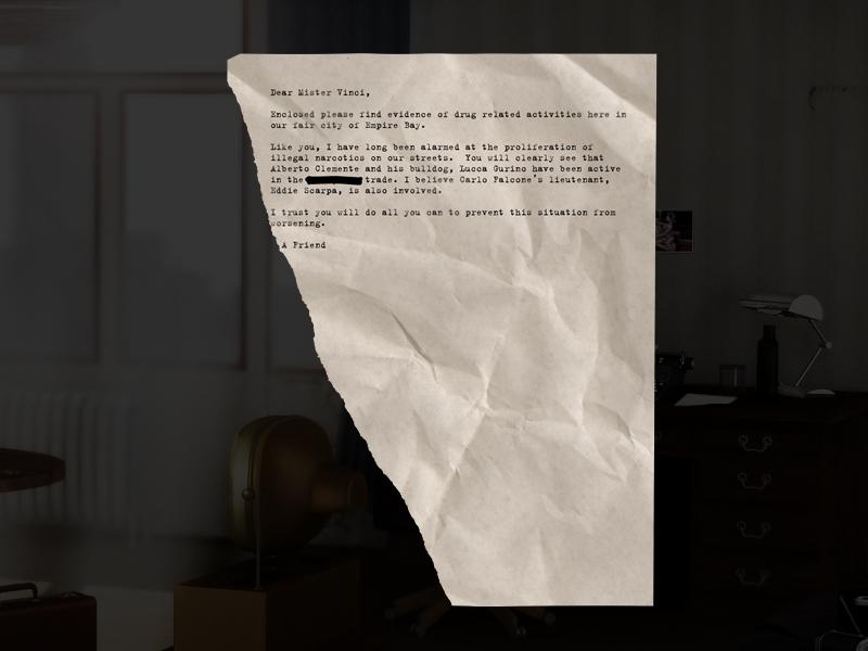 Письмо дону мафиозной семьи - Franco Vinci - Mafia 2