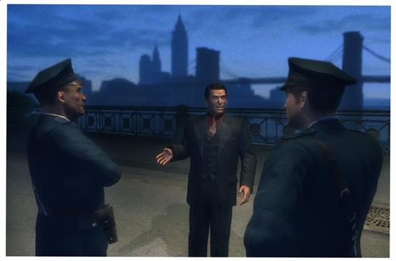 Henry Tomasino в кругу полицейских - Mafia 2