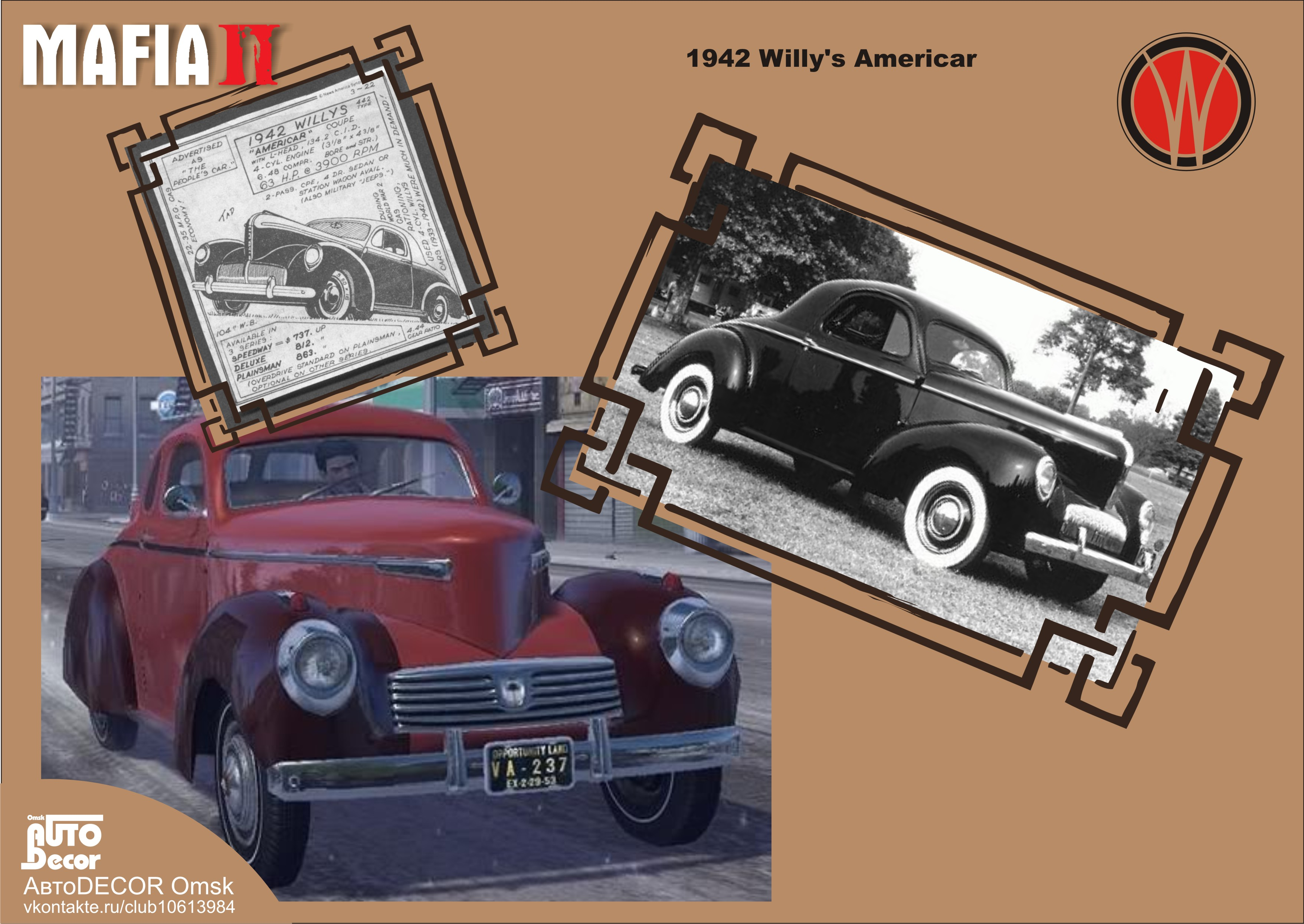 1942 Willy's Americar - Mafia 2