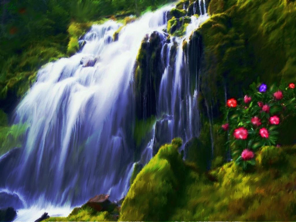 жаль картинка водопада печать если