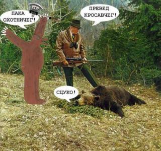 Превед Медвед! Здесь будут картинки о медведе и друзьях