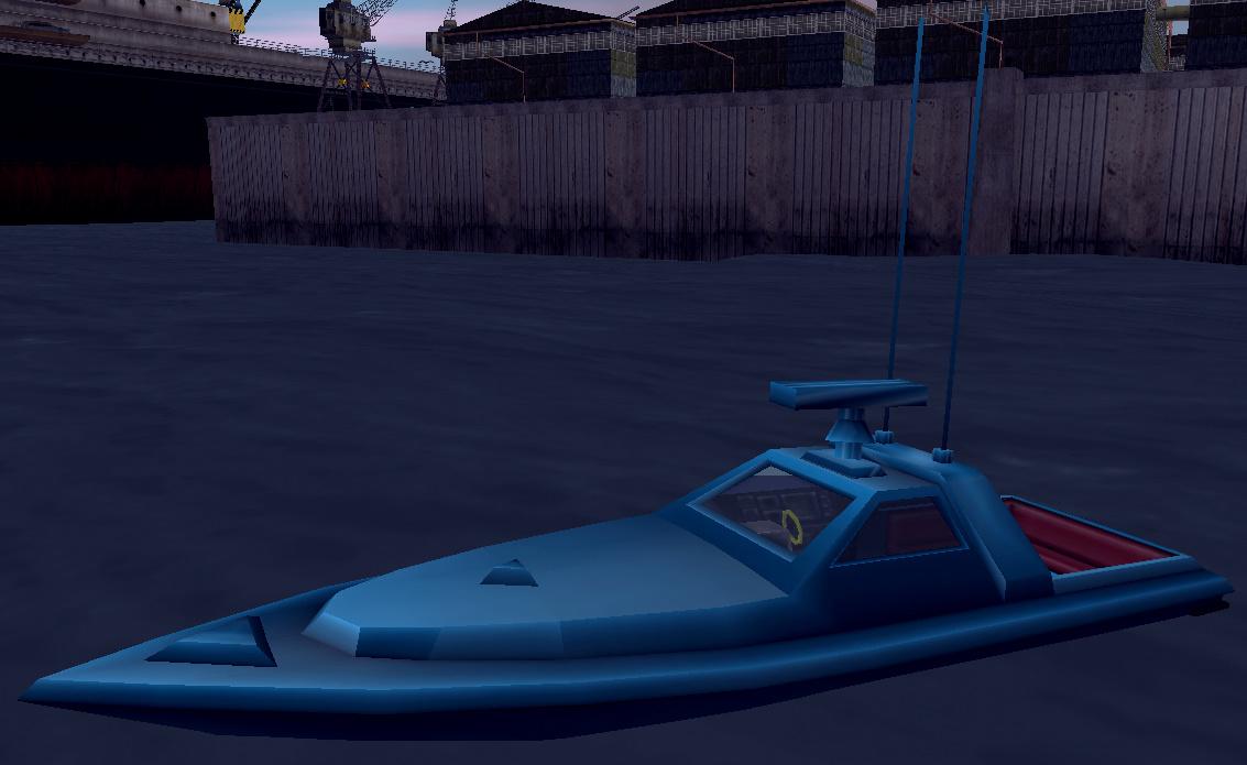 Катер GHOST missing (PS2 version) [screenshot from gta.wikia.com/Ghost] - Grand Theft Auto 3