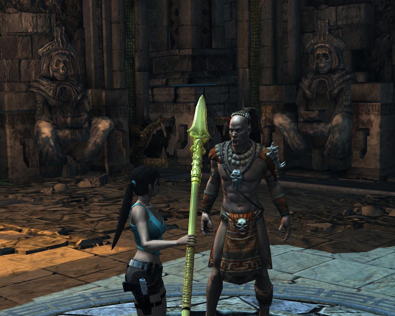 Lara & Totec - Lara Croft and the Guardian of Light lcgol