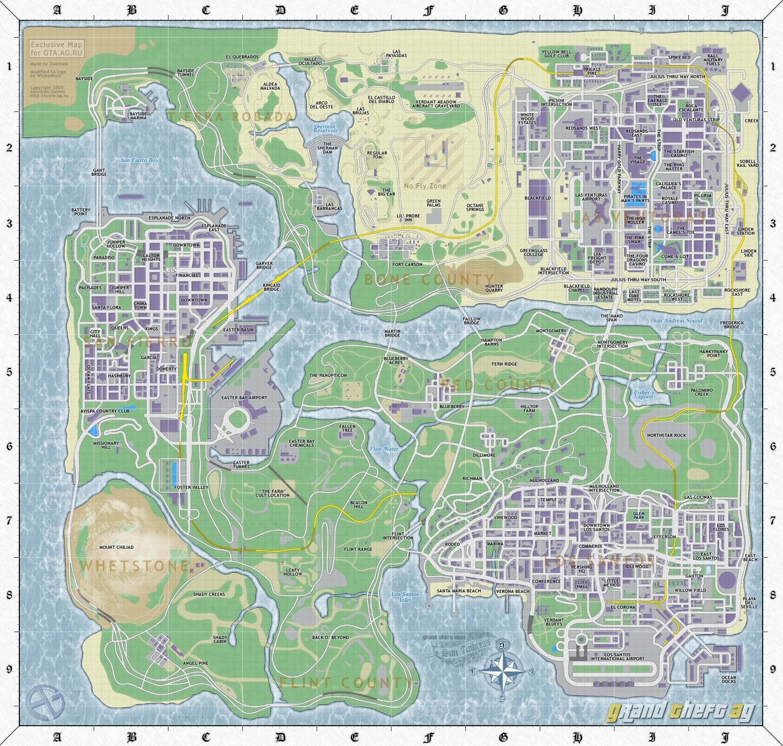 карта подписанная - Grand Theft Auto: San Andreas