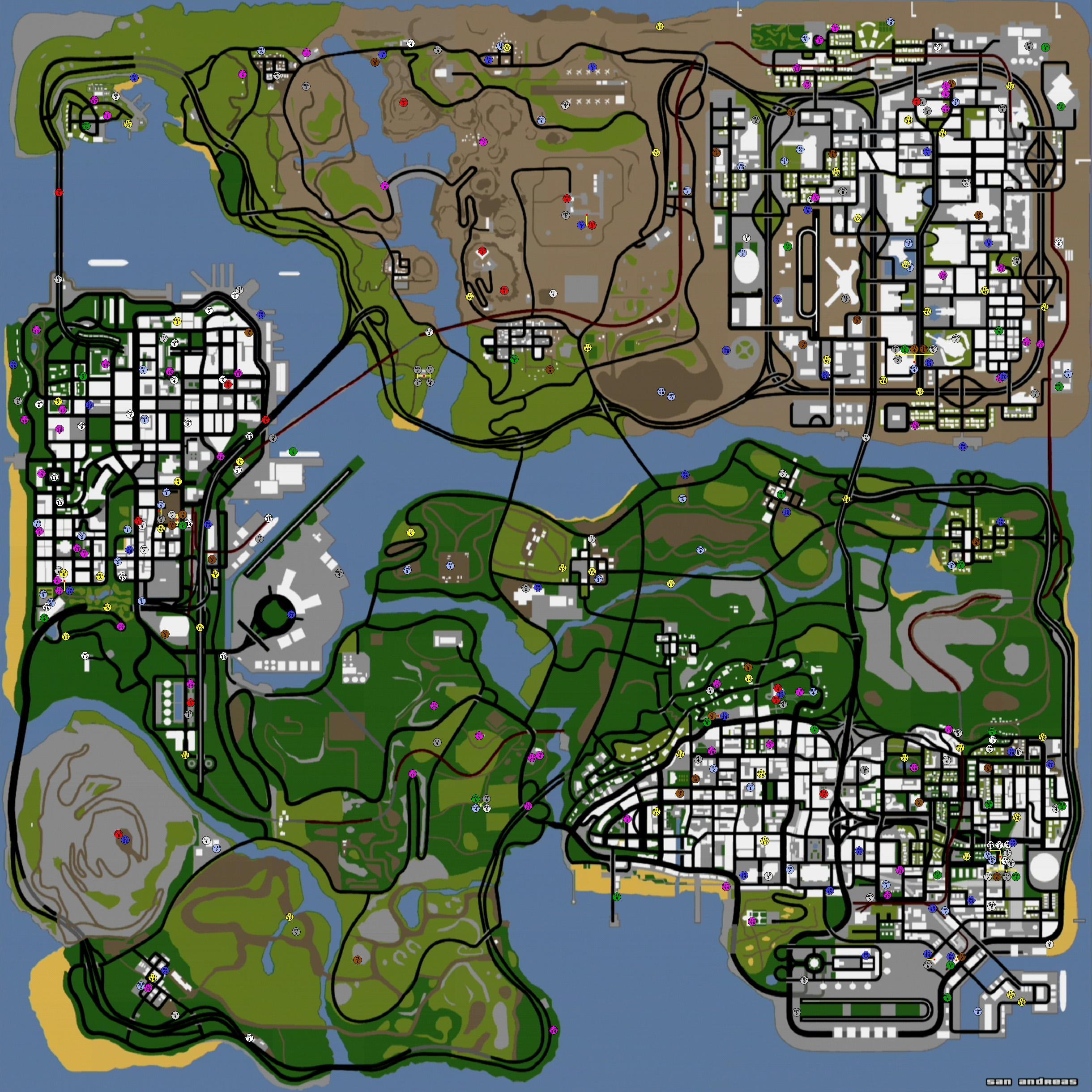 оружие в СА - Grand Theft Auto: San Andreas