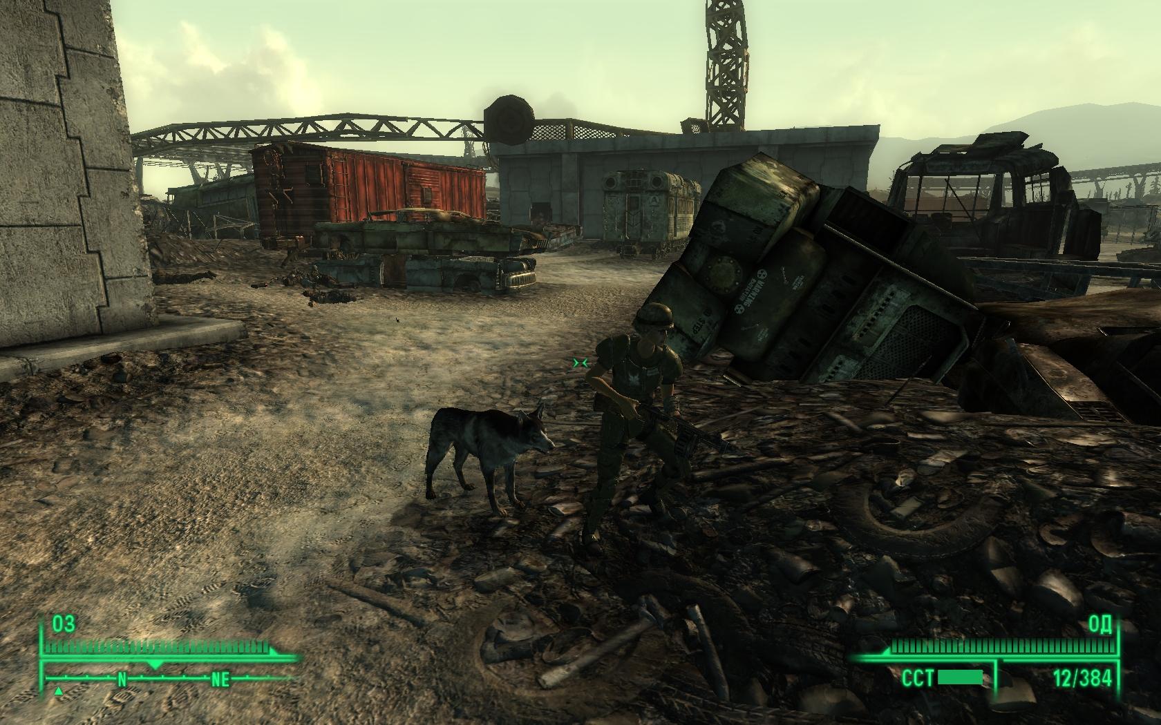 Кладбище бандитов или где я нашел собаку - Fallout 3 собака