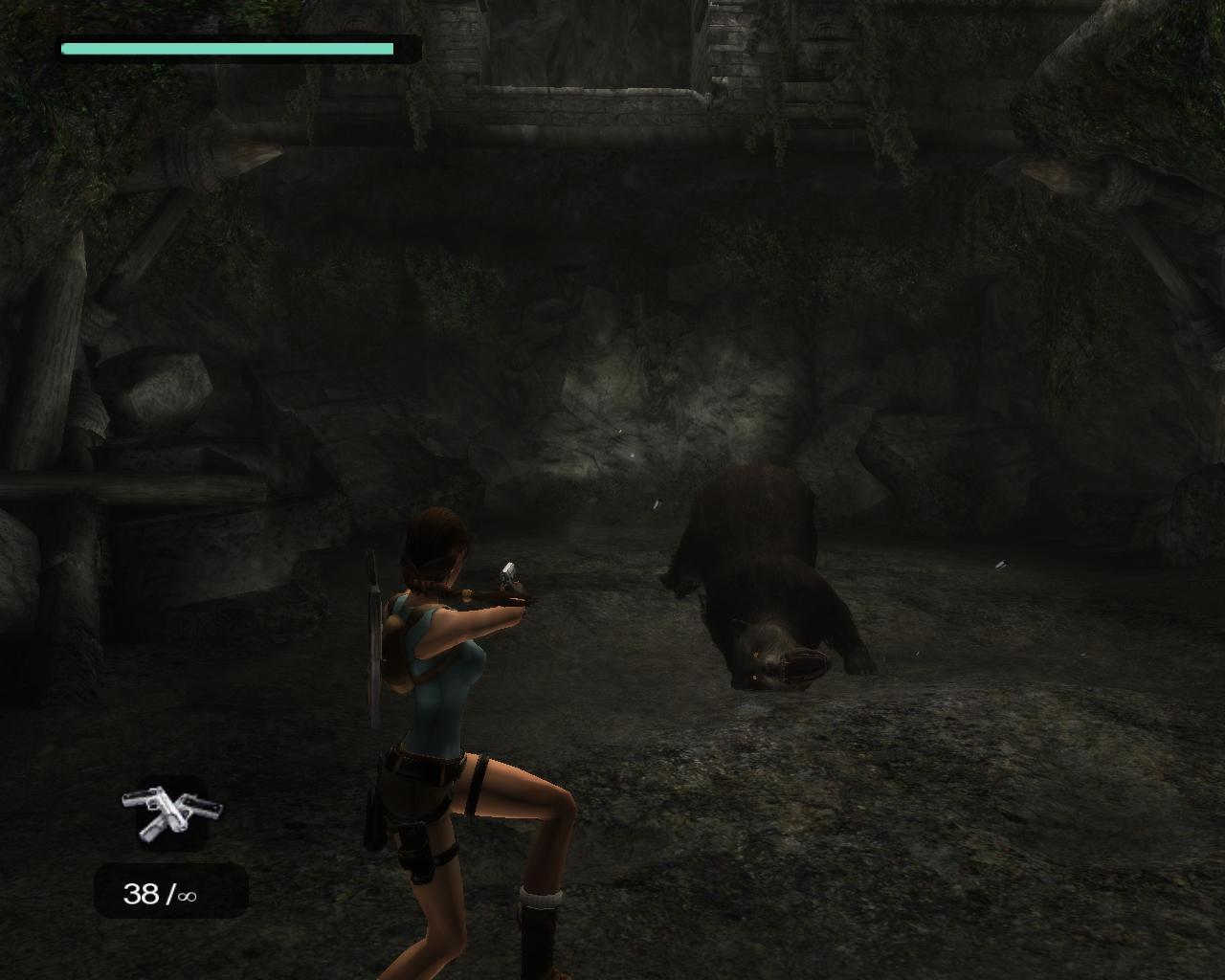Лара и медведь - Tomb Raider: Anniversary