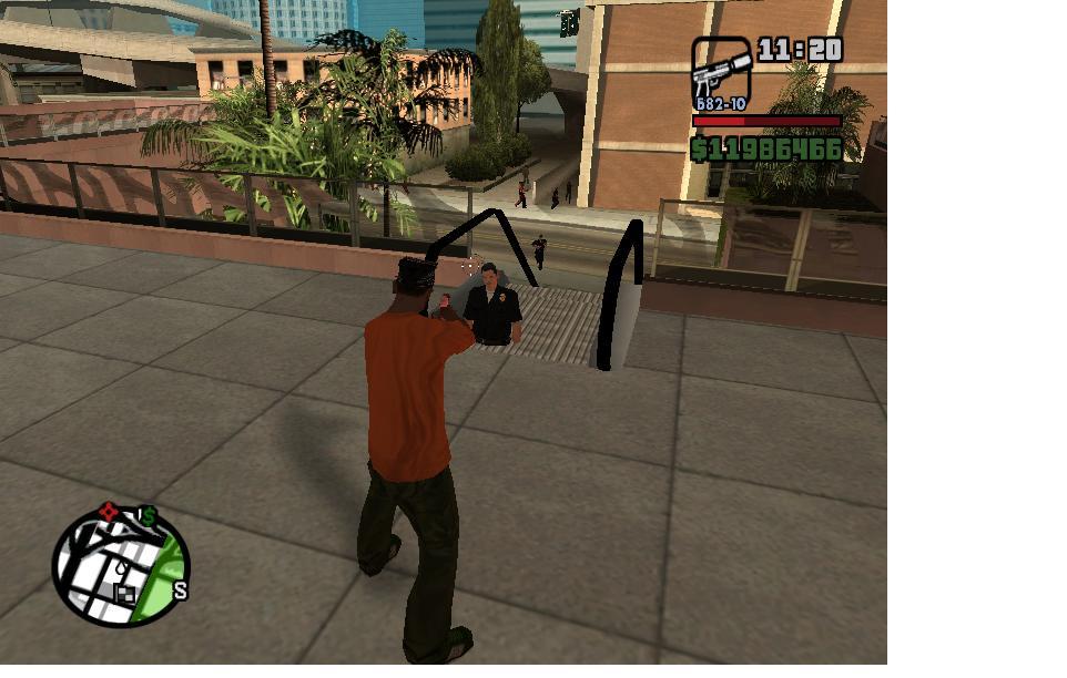 коп провалился - Grand Theft Auto: San Andreas