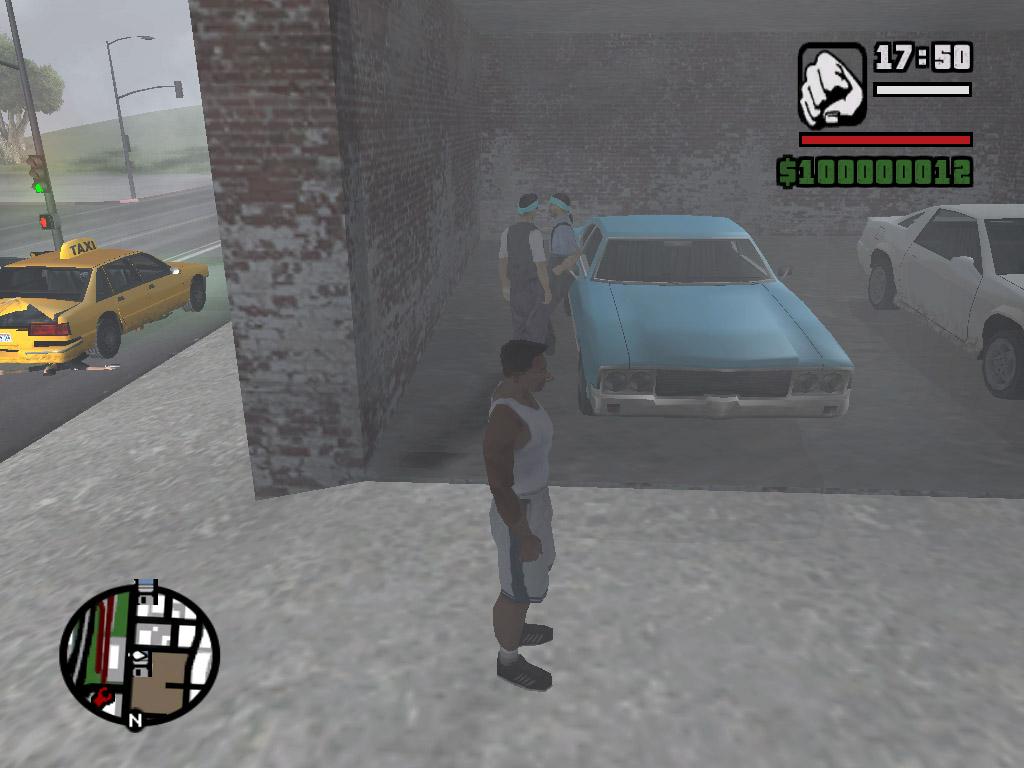 Эта банда очень любит Джонсона и он разрешает им тусоваться в его гараже - Grand Theft Auto: San Andreas