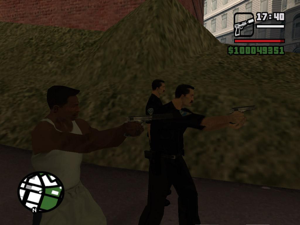 Джонсон с копами обьединились - Grand Theft Auto: San Andreas