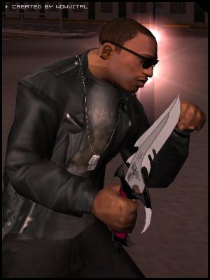 CJ & нож - Grand Theft Auto: San Andreas
