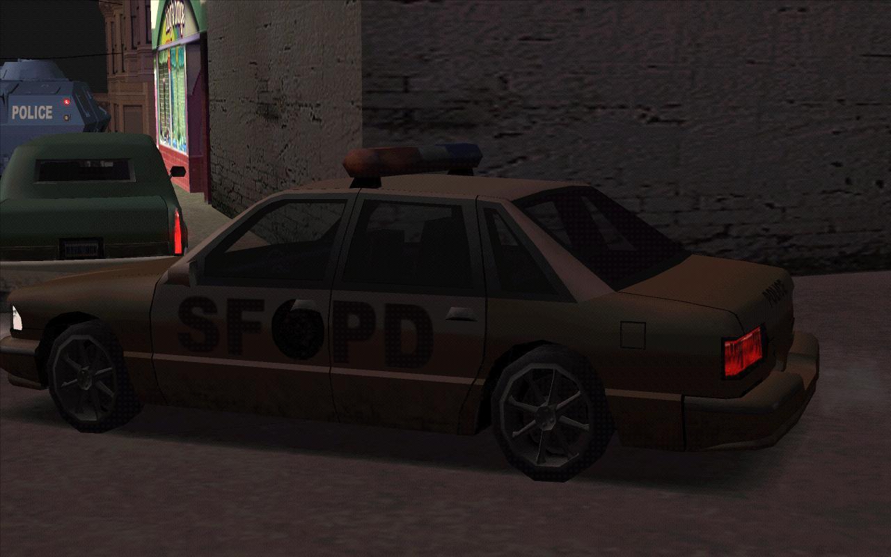 Коричневый ментовоз - Grand Theft Auto: San Andreas